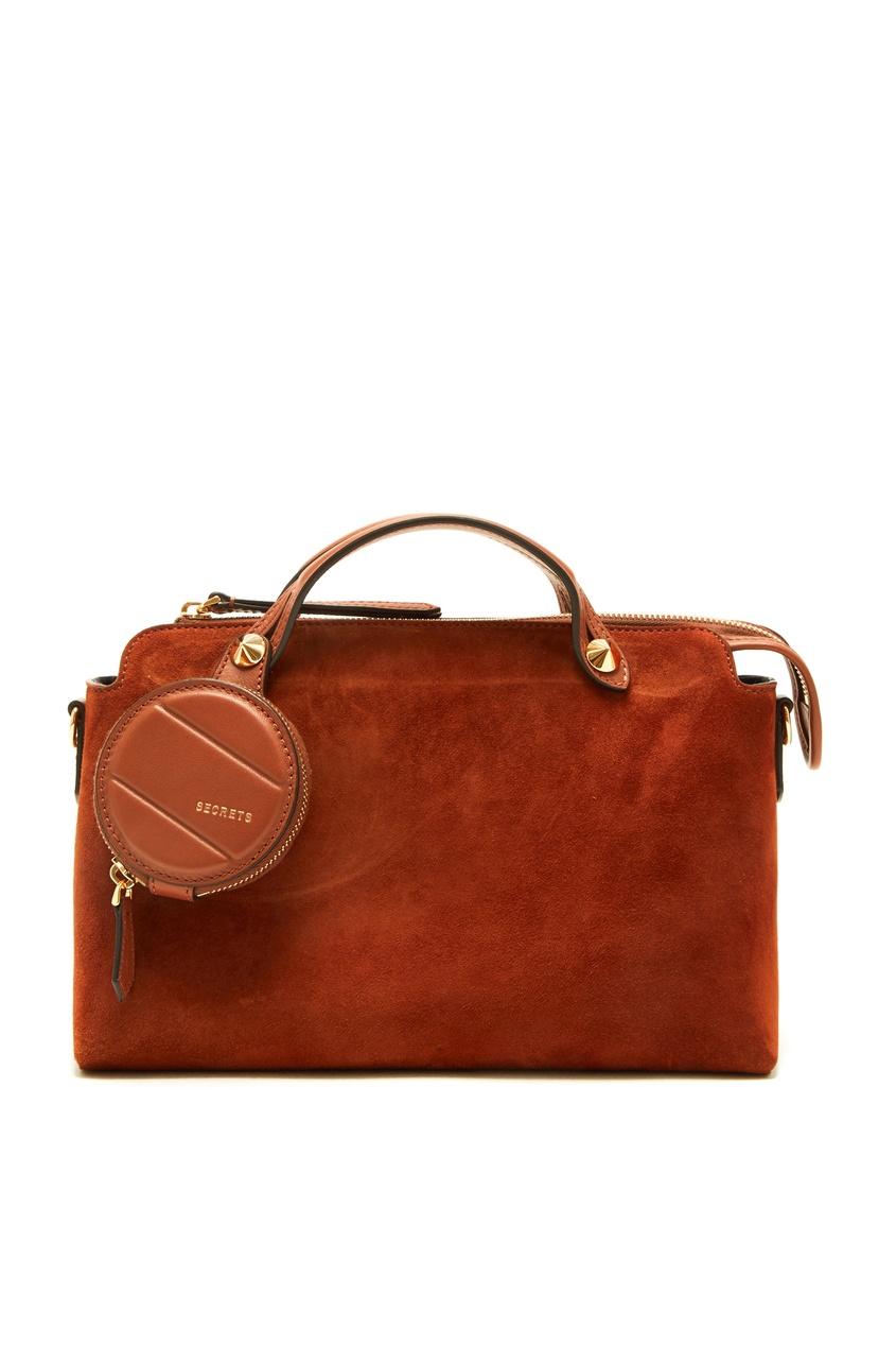 женская сумка fendi, коричневая