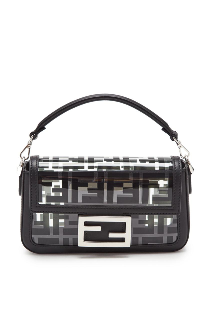 Прозрачная сумка Baguette c монограммами от Fendi