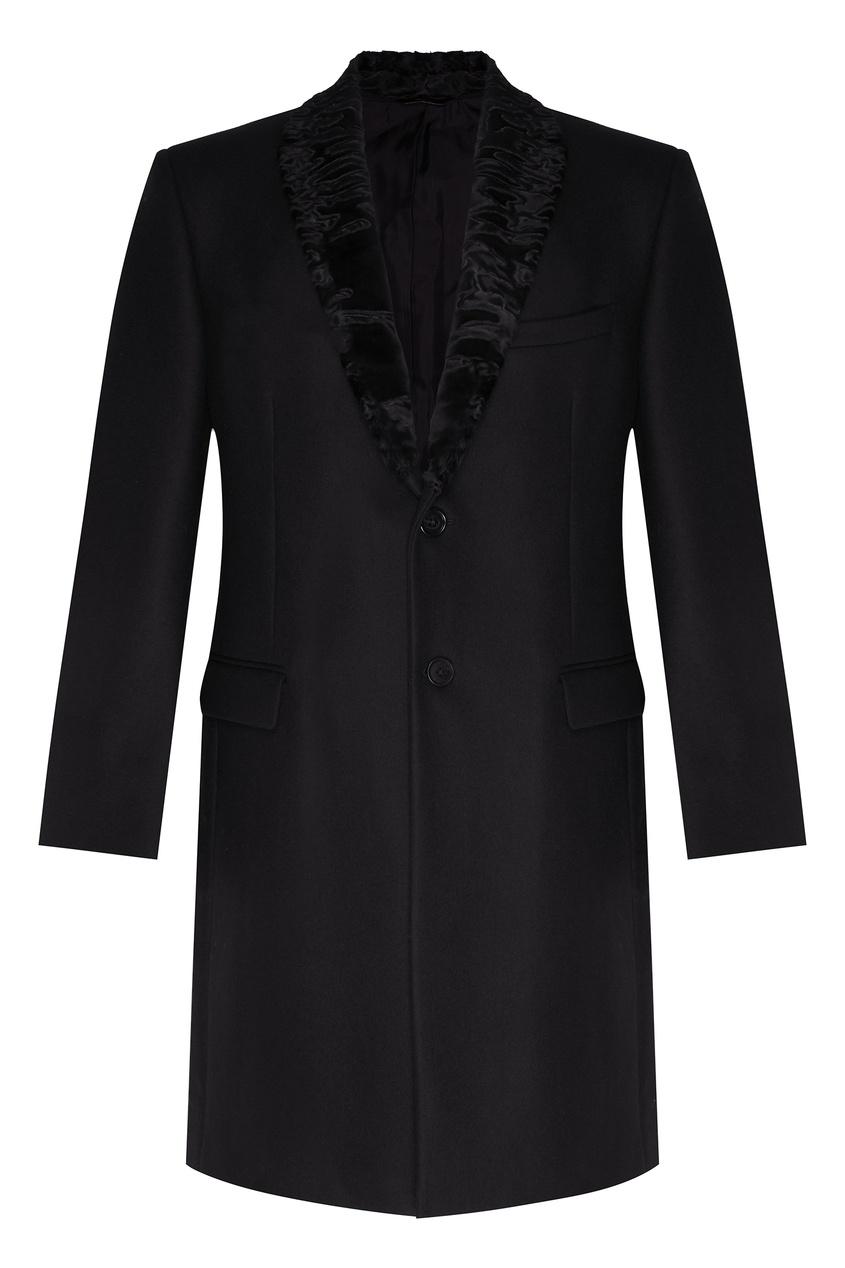 мужское пальто fendi, черное