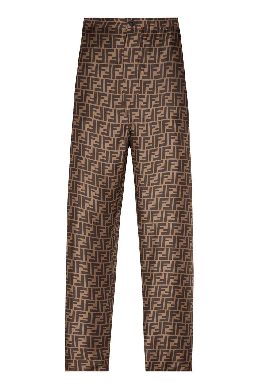 мужские брюки fendi, коричневые