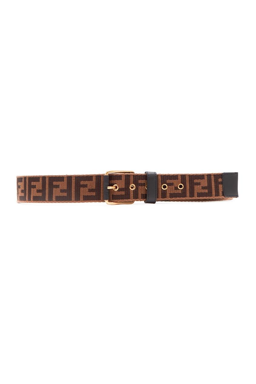 Текстильный ремень с монограммами Fendi