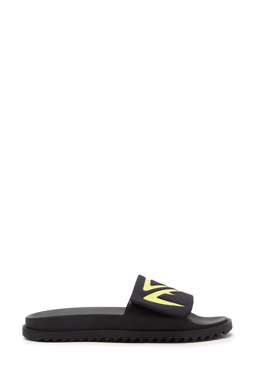 Черные пантолеты с неоновой отделкой от Fendi
