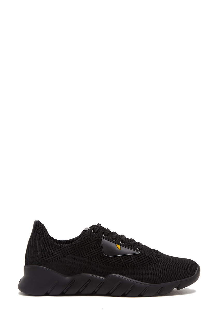 мужские кроссовки fendi, черные