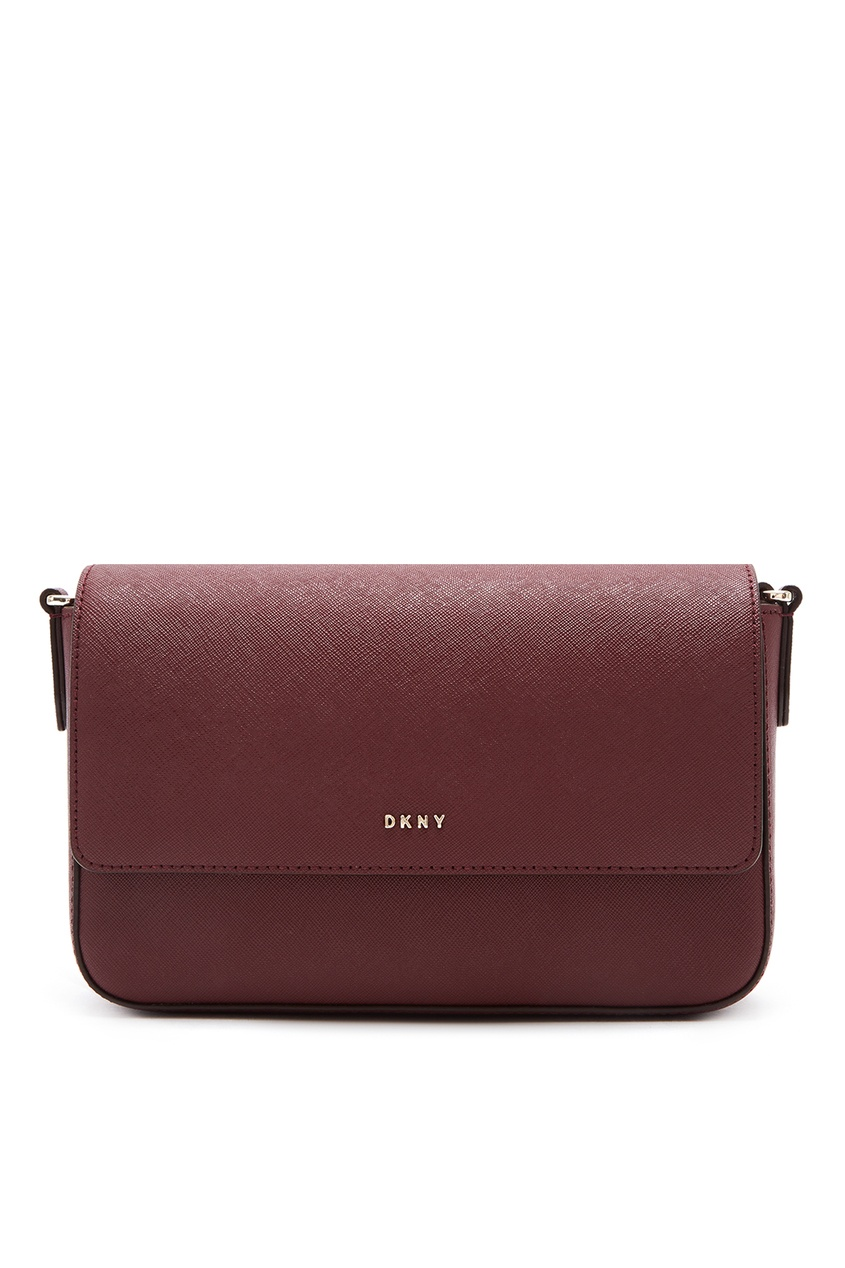 Бордовая сумка-кроссбоди DKNY