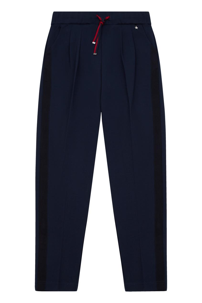 Синие брюки со складками, Синий