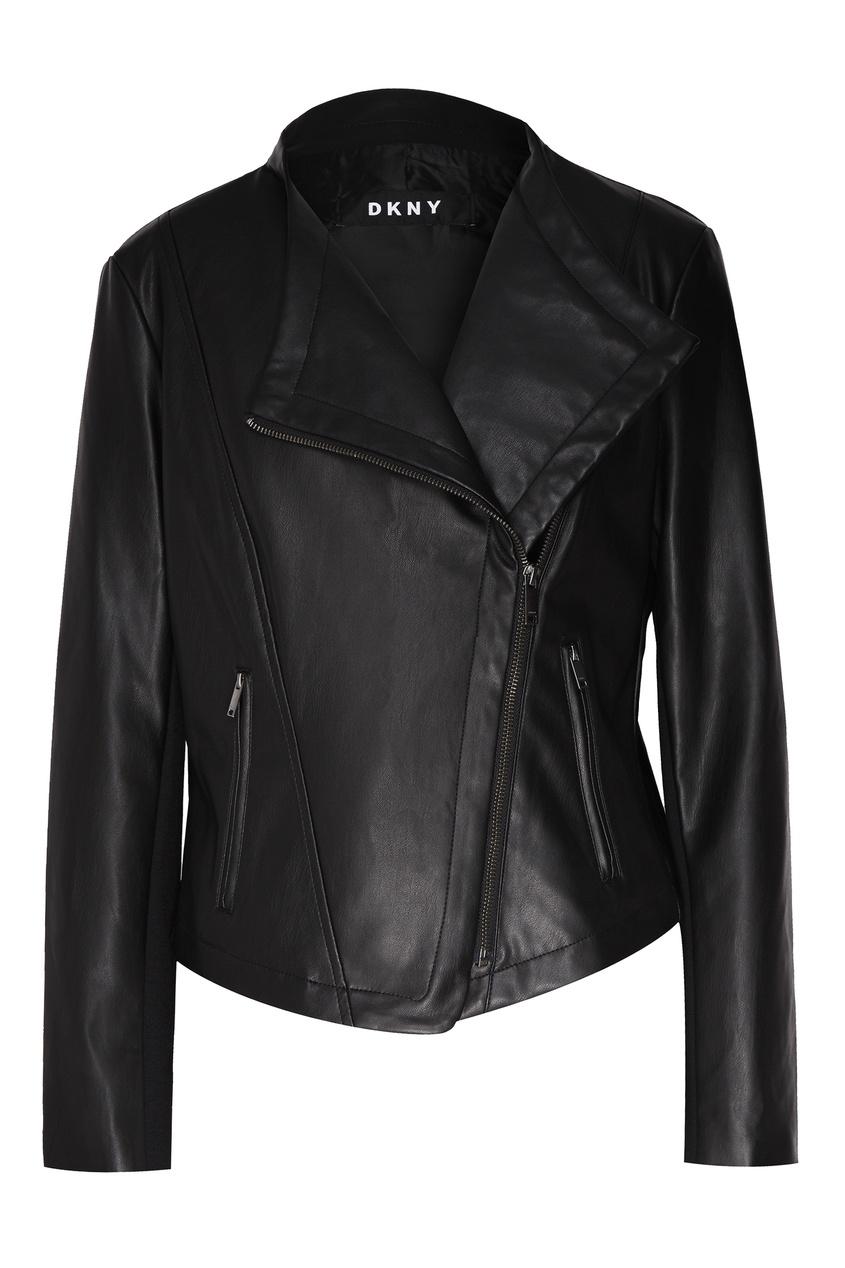 женская куртка dkny, черная