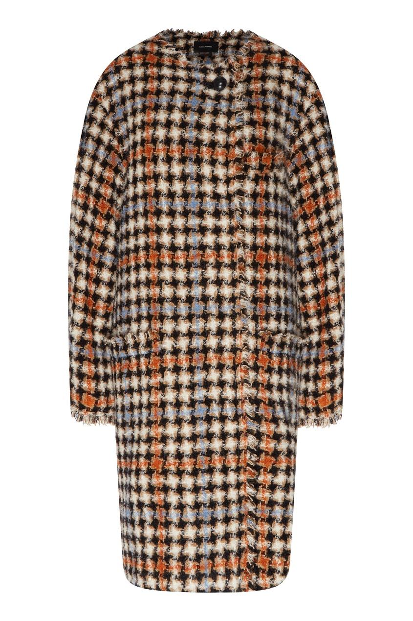 Шерстяное пальто без воротника Dianaly