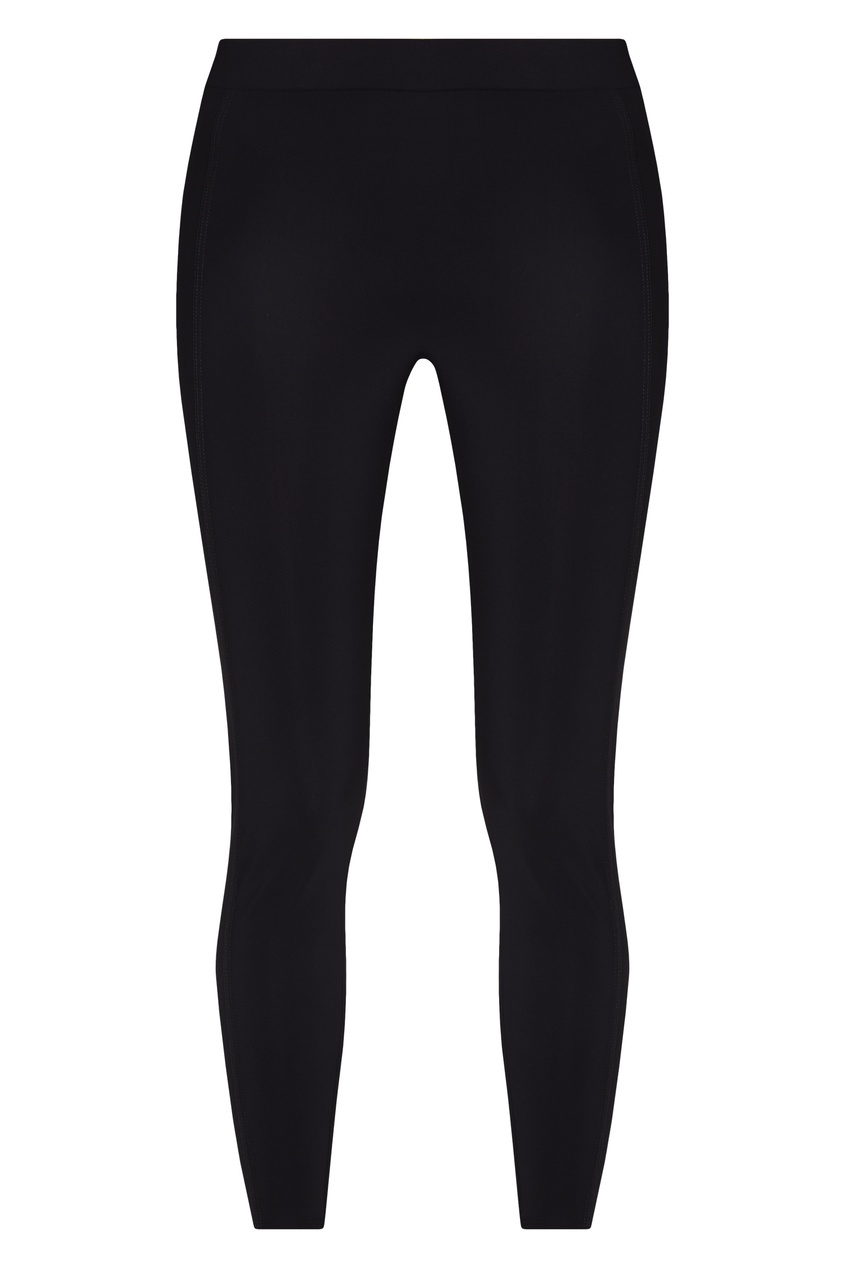Эластичные леггинсы черного цвета Moncler