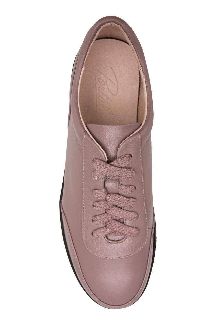 Фото 2 - Кеды коричневого цвета от Portal розового цвета