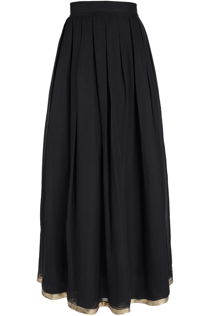 Шелковая юбка в пол (80-е)