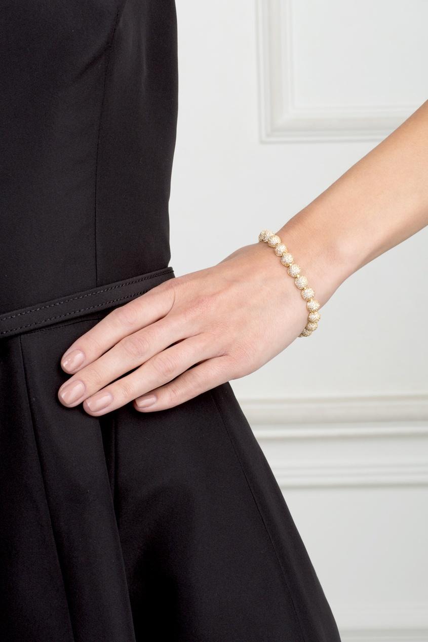 Позолоченный браслет с кристаллами
