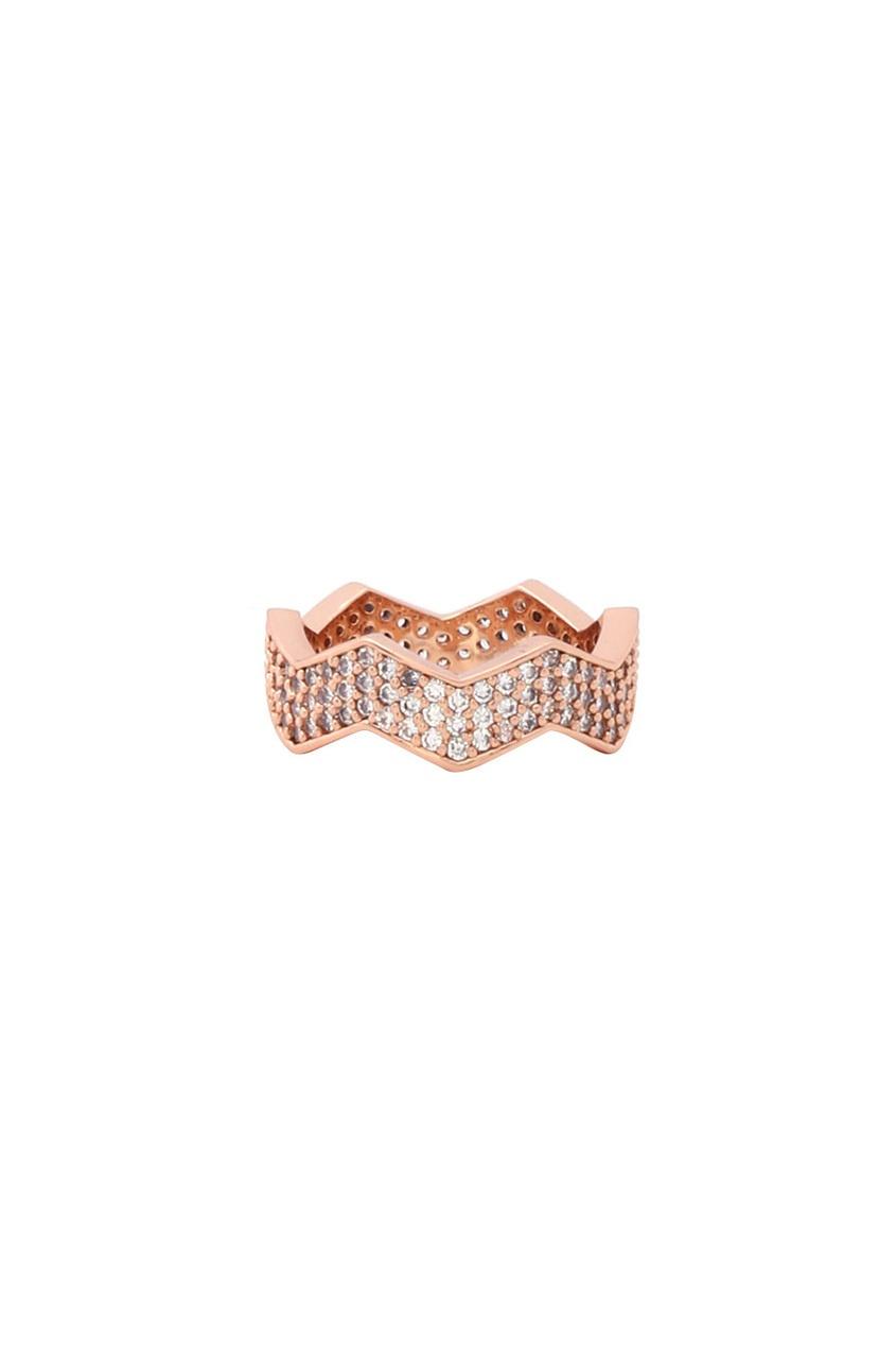 Сет из позолоченных колец с кристаллами от AIZEL