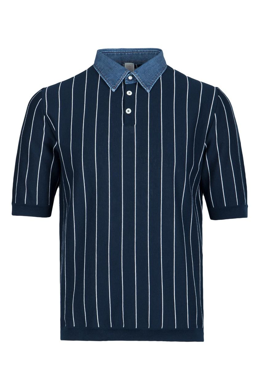 мужская рубашка eleventy, синяя