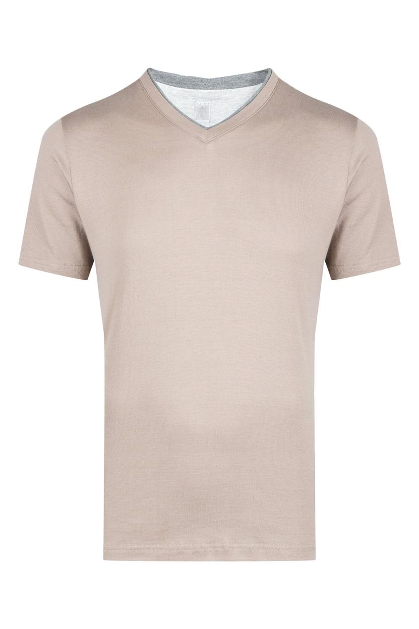 мужская футболка eleventy, коричневая