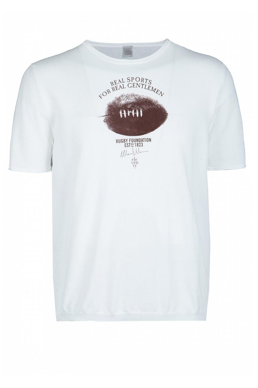 мужская футболка eleventy, белая