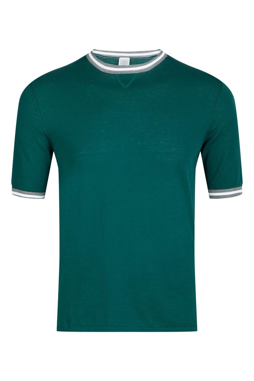 мужская футболка eleventy, зеленая