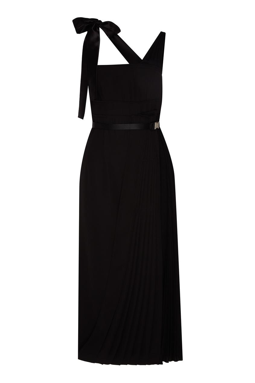женское платье prada, черное