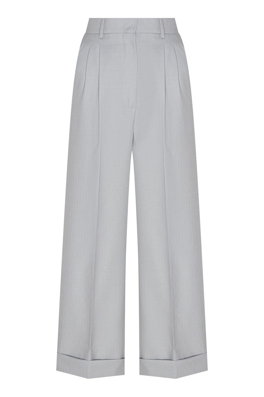 Серые брюки с подворотами от Fendi