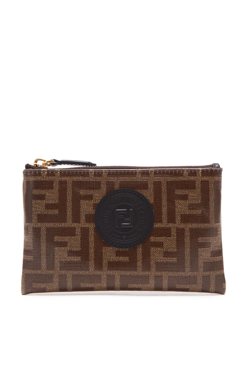 Коричневый кошелек с монограммами Fendi