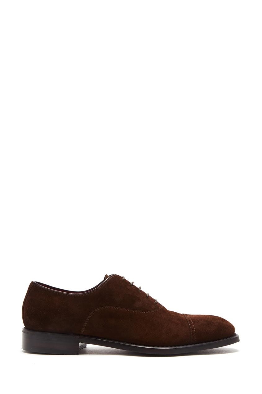 Коричневые туфли из замши Barrett