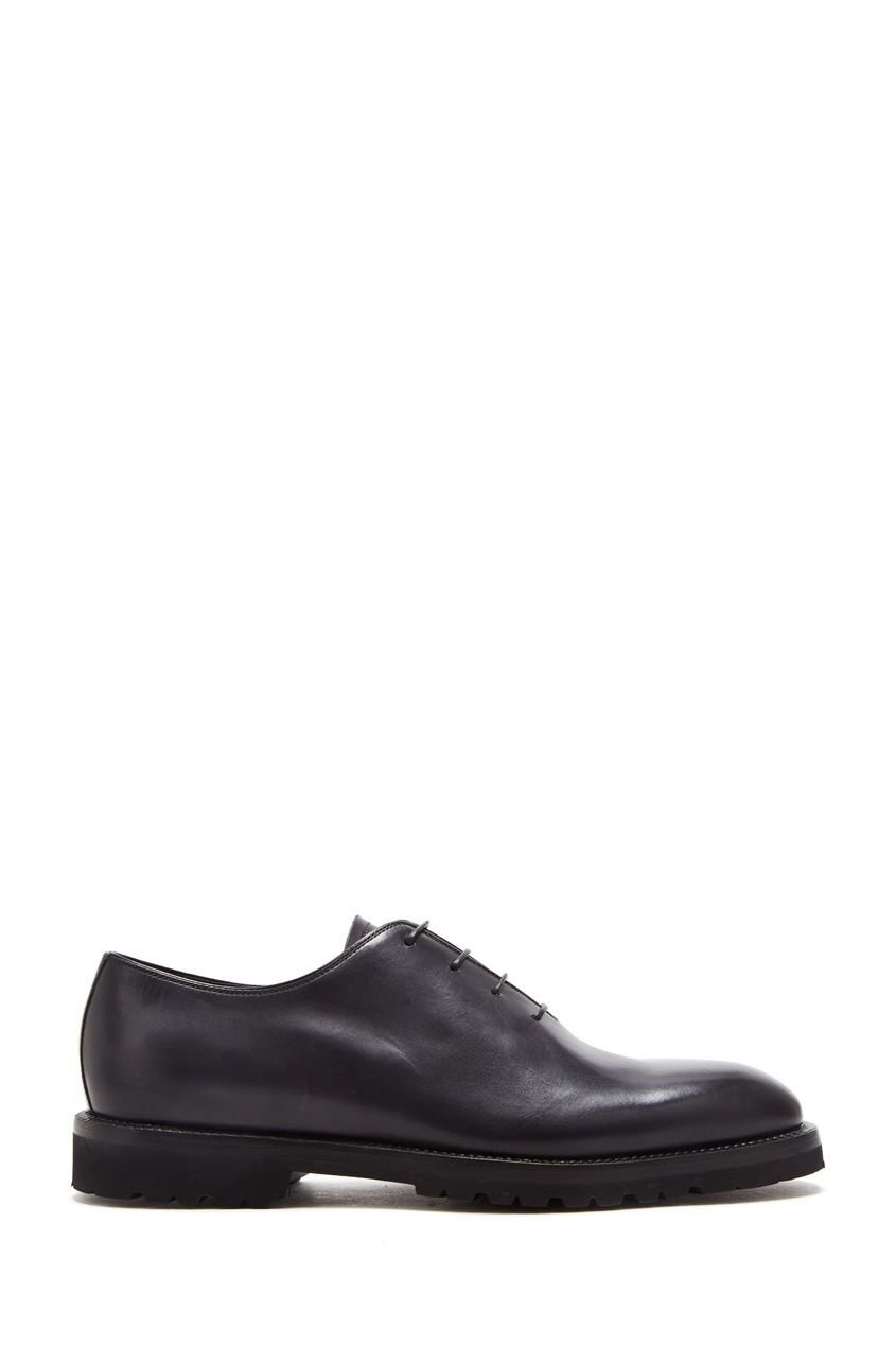 Темно-серые туфли с тонкой шнуровкой Barrett