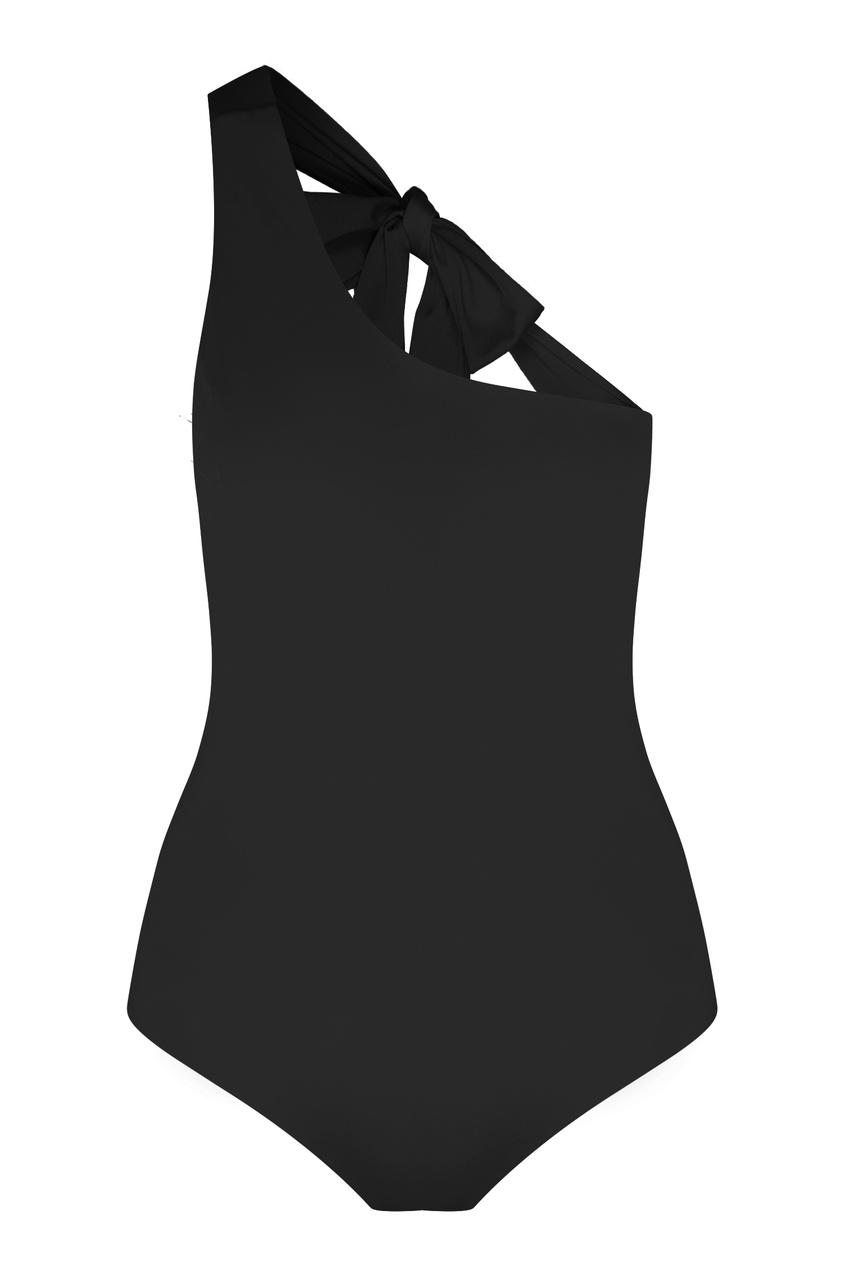 Черный слитный купальник One Four