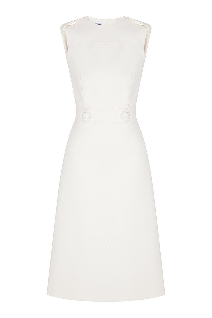 женское платье prada, белое