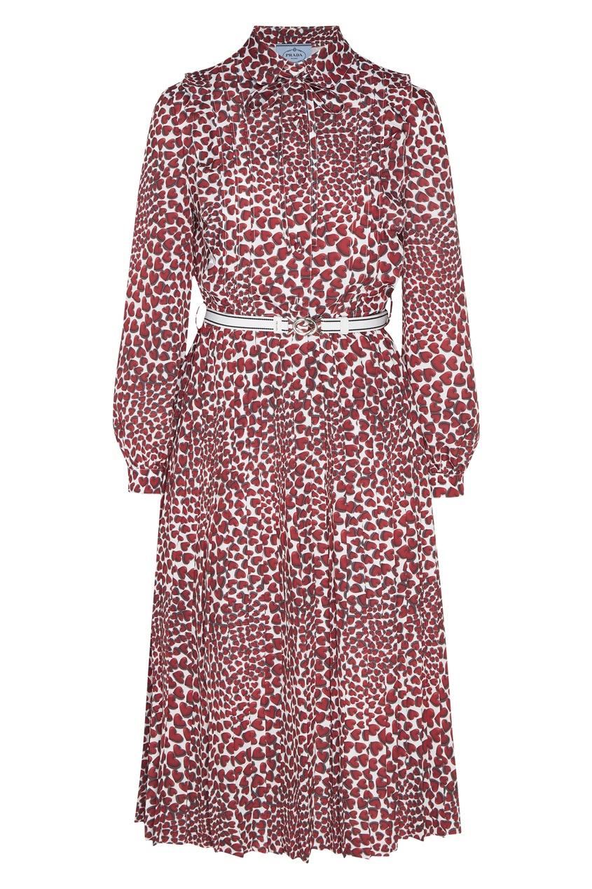 женское платье prada