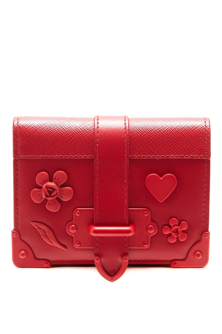 Красный кошелек Cahier с отделкой PRADA