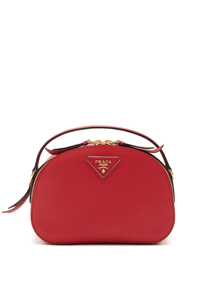 Красная кожаная сумка Odetta PRADA