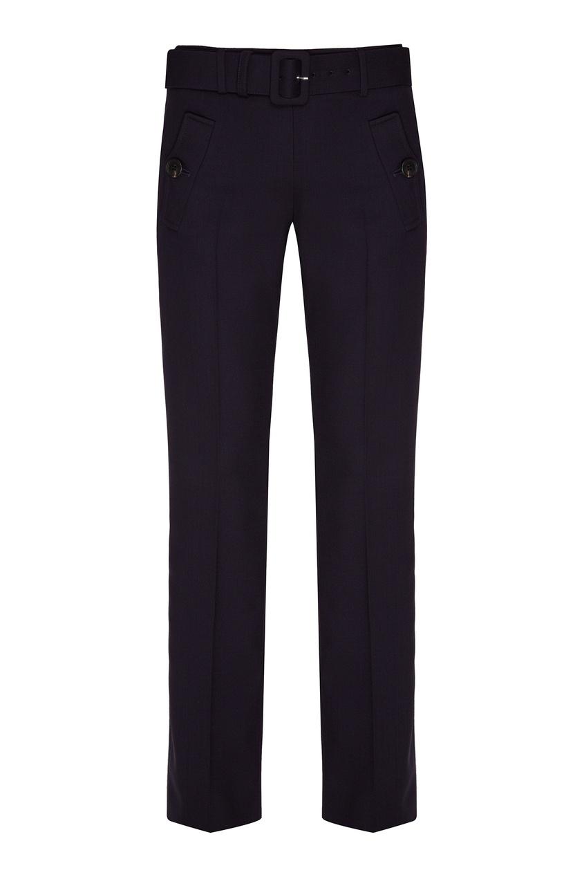 женские брюки prada, синие
