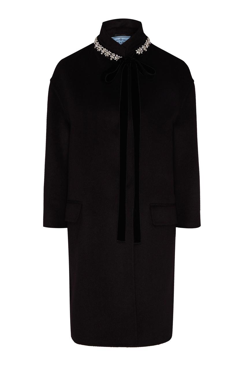 Объемное пальто с шерстью кашгоры