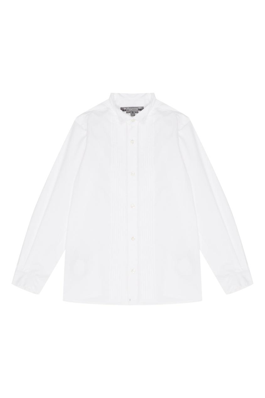 Белая рубашка с декором Bonpoint