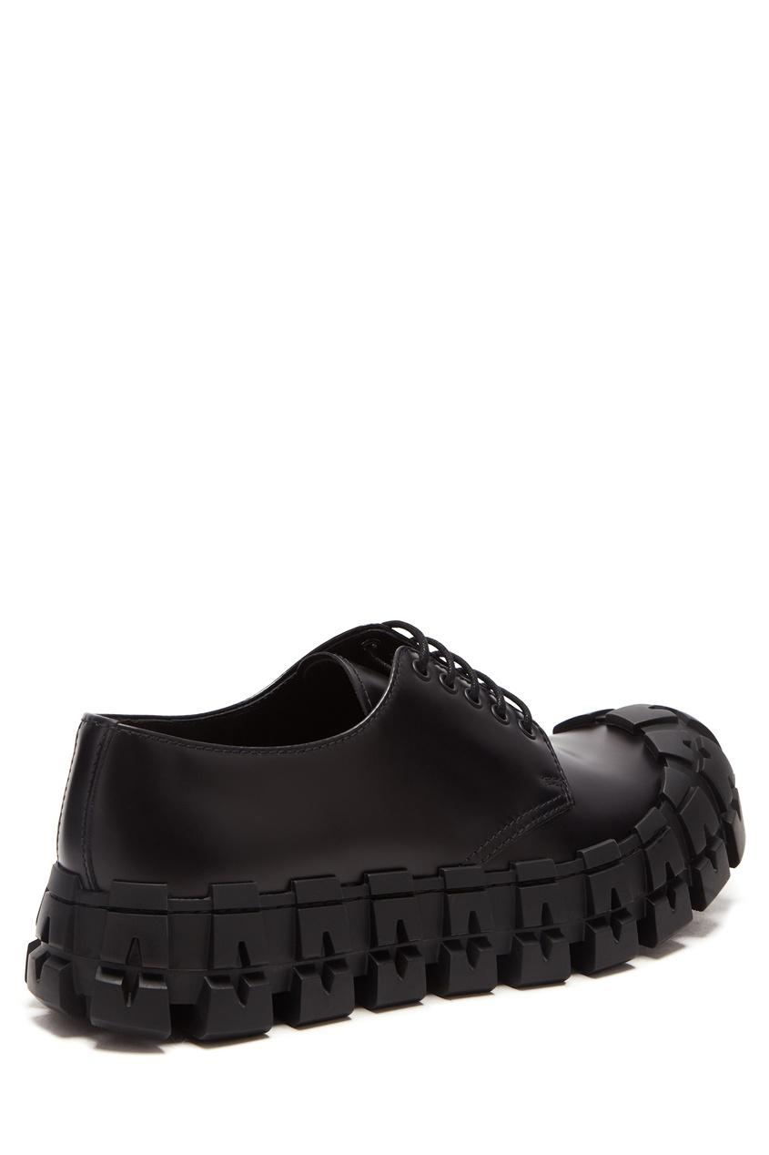 мужские туфли prada, черные