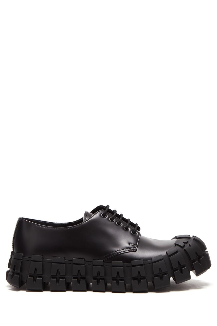 Туфли на массивной подошве с протектором PRADA