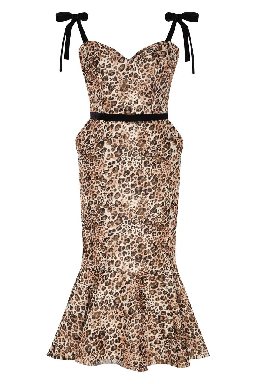 Леопардовое платье Love Between Species Johanna Ortiz