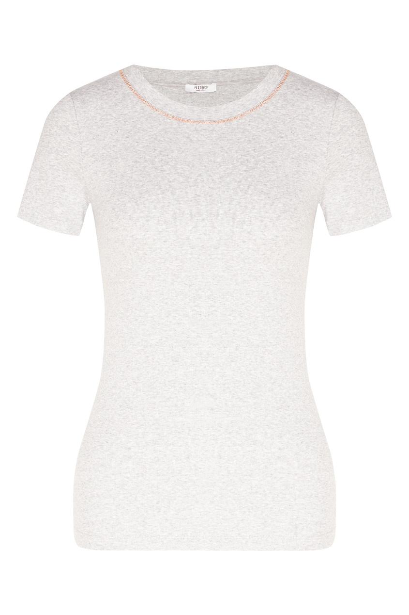 женская футболка peserico, серая