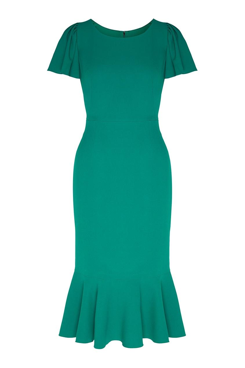 женское платье dolce & gabbana, зеленое