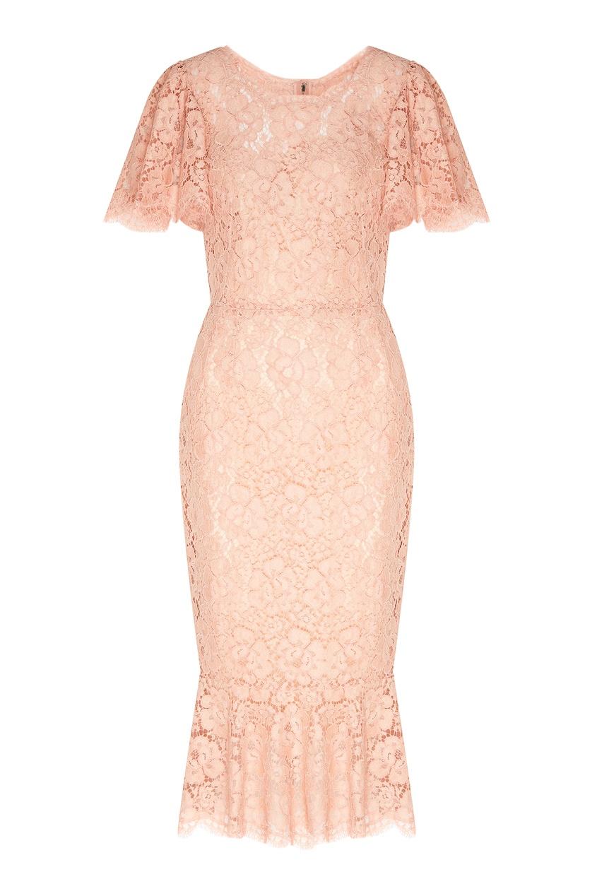женское платье dolce & gabbana, оранжевое