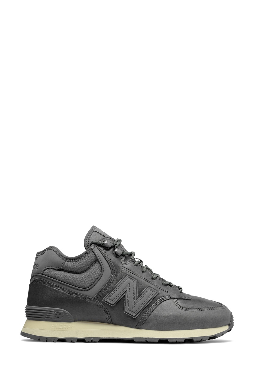 Утепленные кроссовки серого цвета 574 Mid New balance