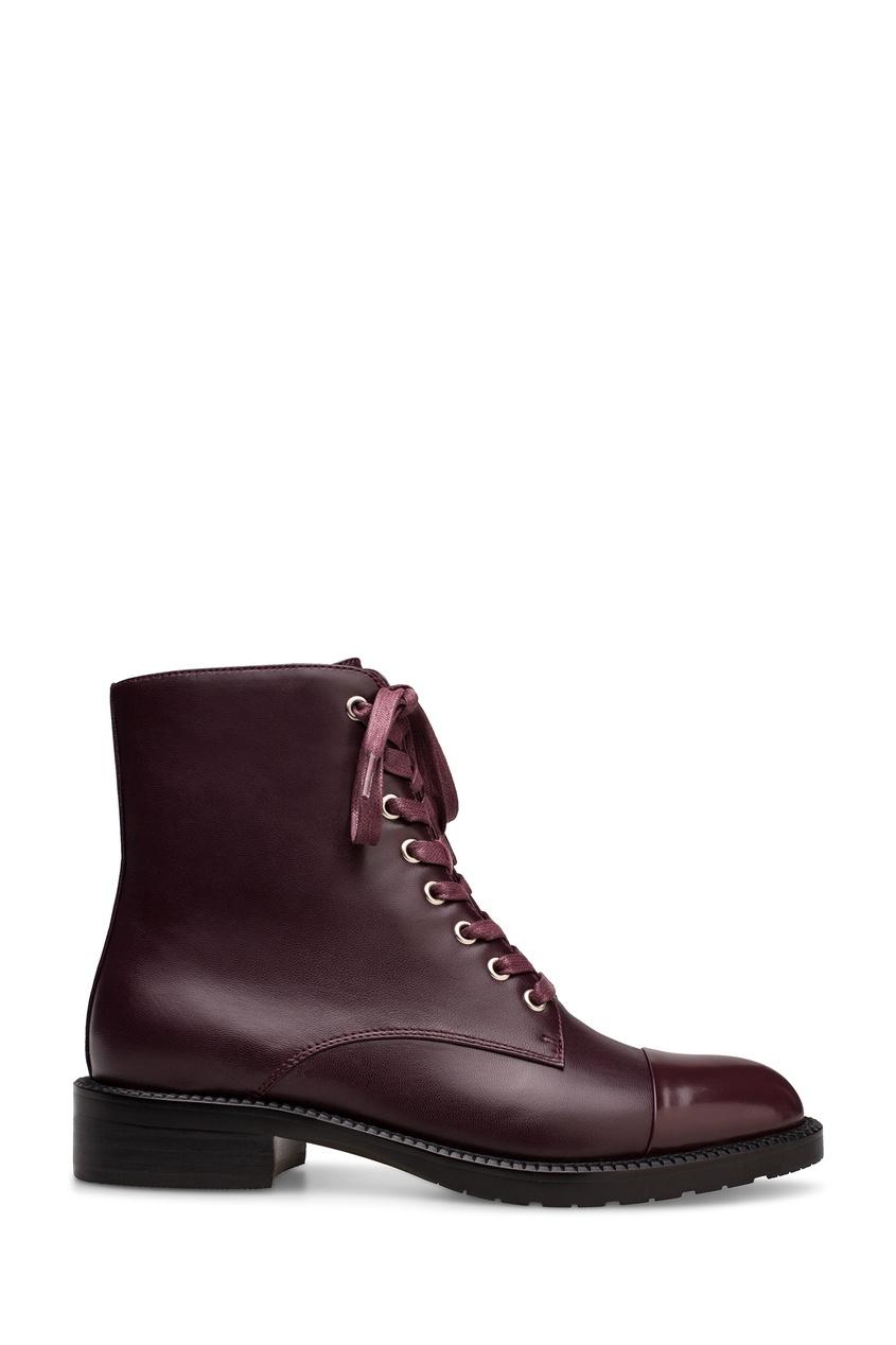 Бордовые ботинки со шнуровкой Portal