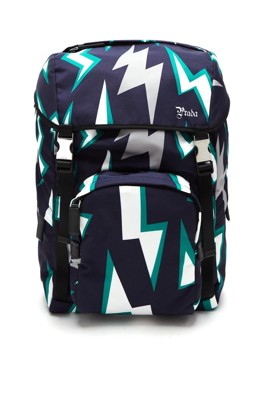 Рюкзак с графичным узором от Prada