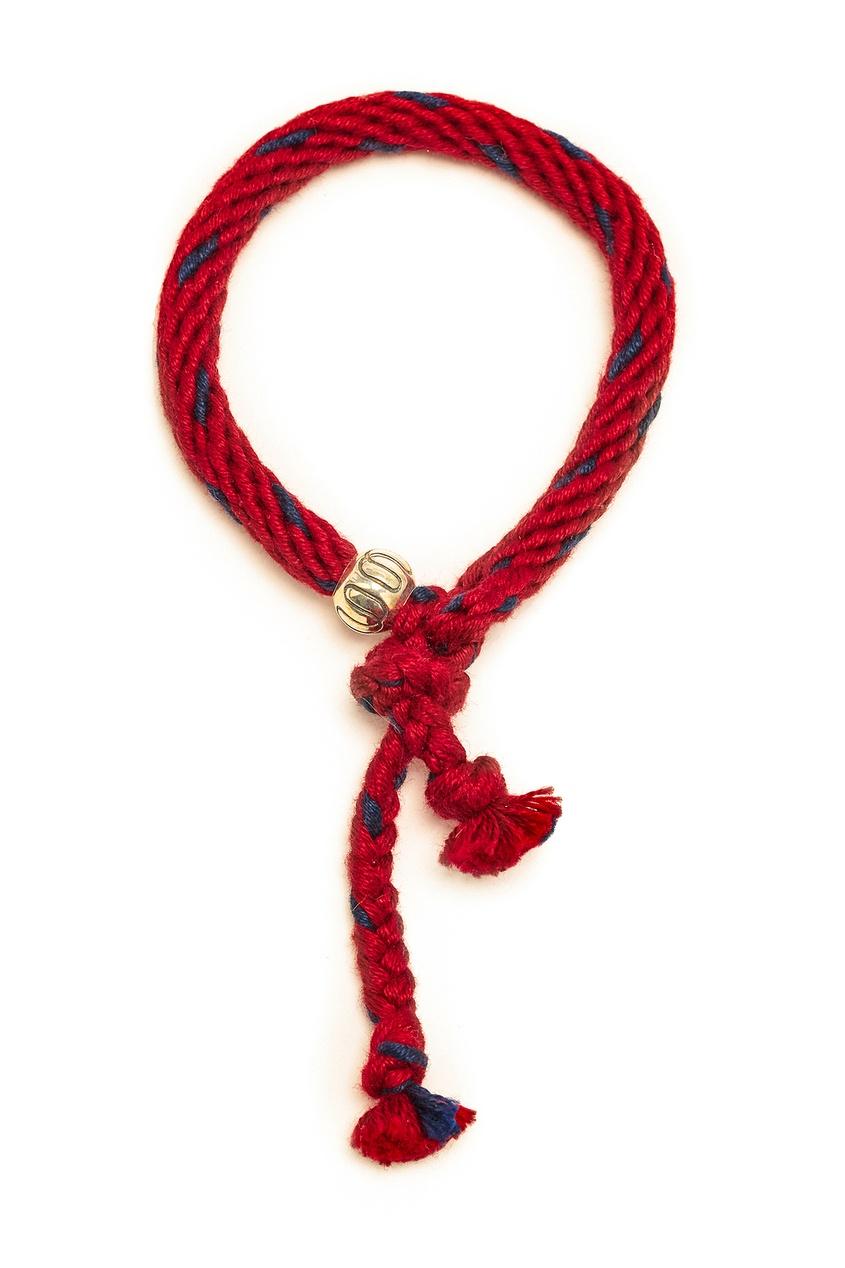 Бордовый плетеный браслет Kumihimo от U Jewels