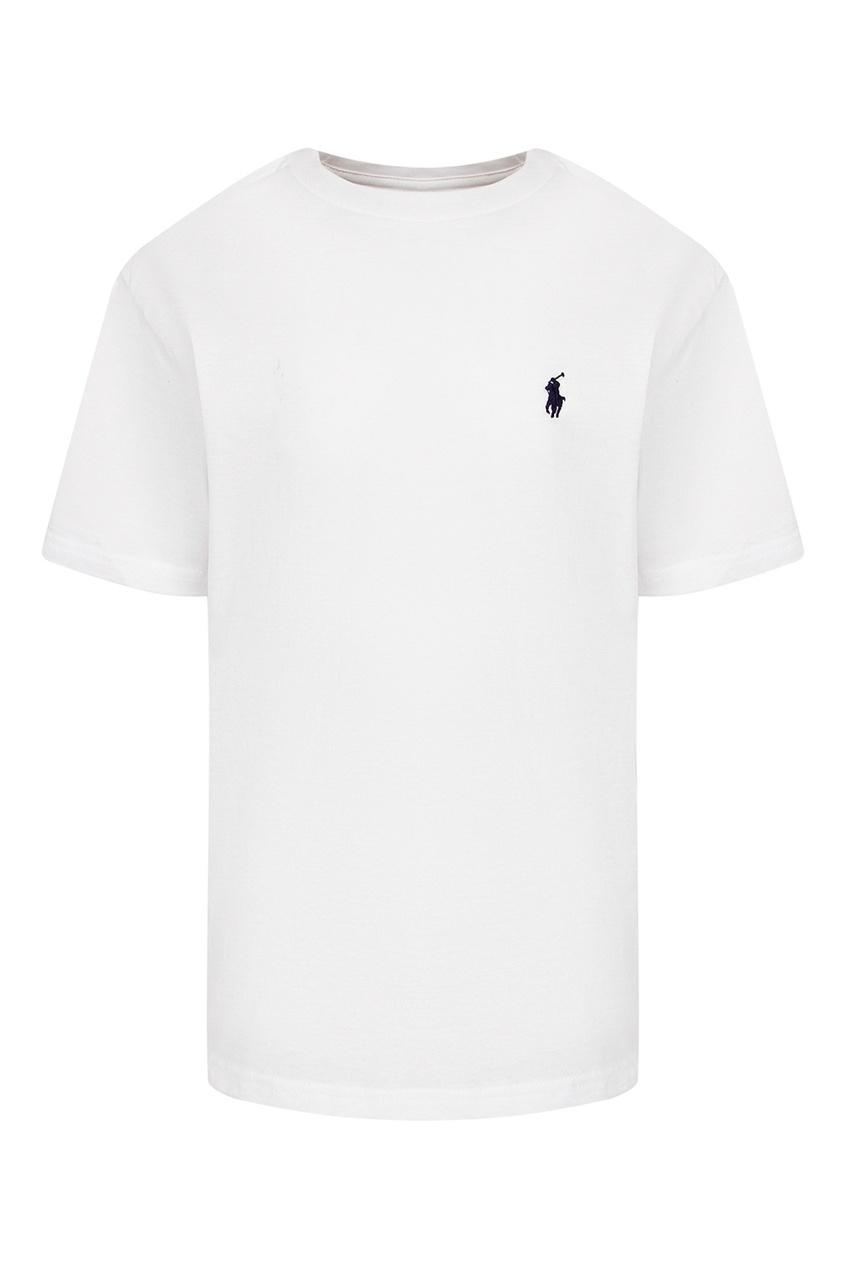 Белая футболка с логотипом Ralph Lauren Kids