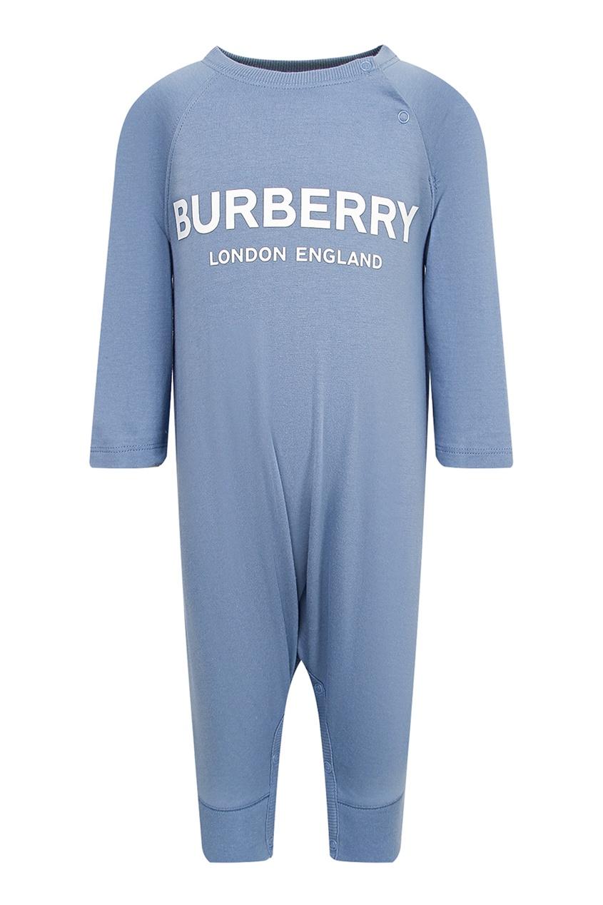 Детский комплект голубого цвета Burberry Kids