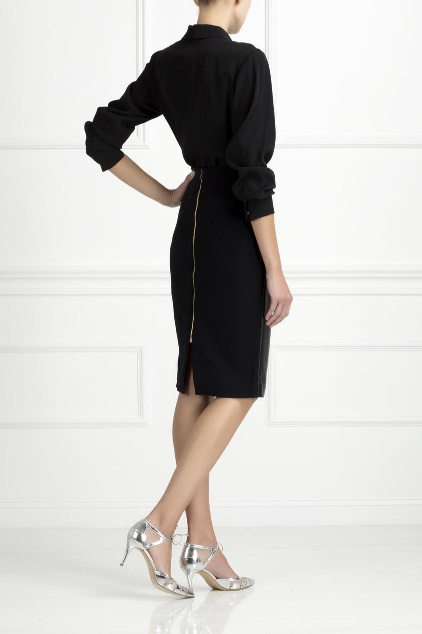 Кожаная юбка от AIZEL