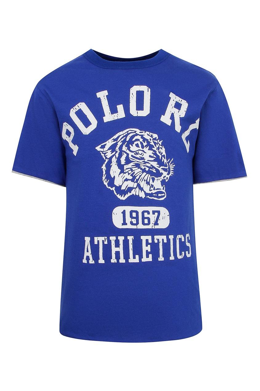 Двусторонняя футболка с логотипами Ralph Lauren Kids