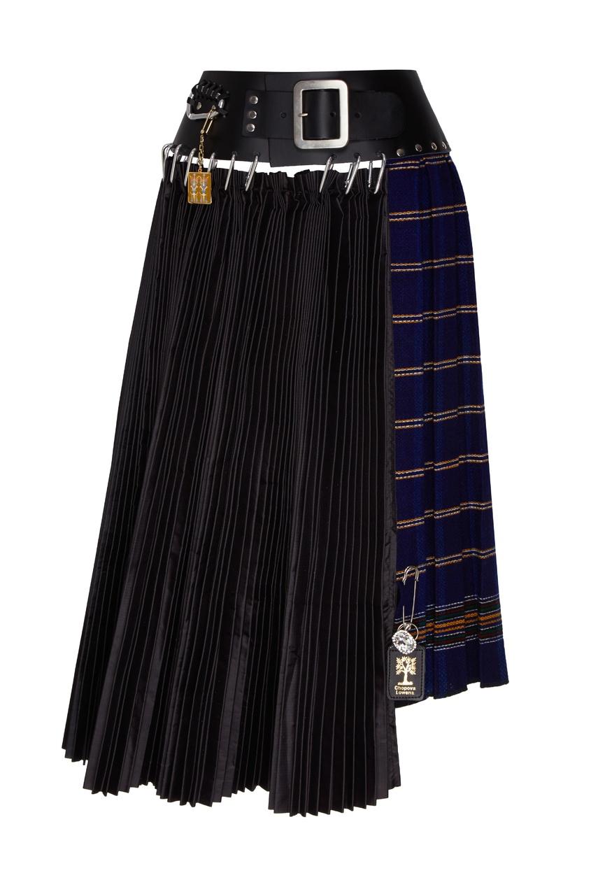 Фото - Комбинированная юбка в холодных тонах от Chopova Lowena черного цвета