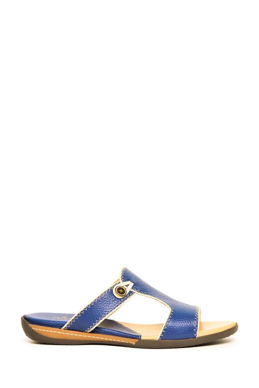 Синие кожаные сандали Artioli 1674152408 синий фото