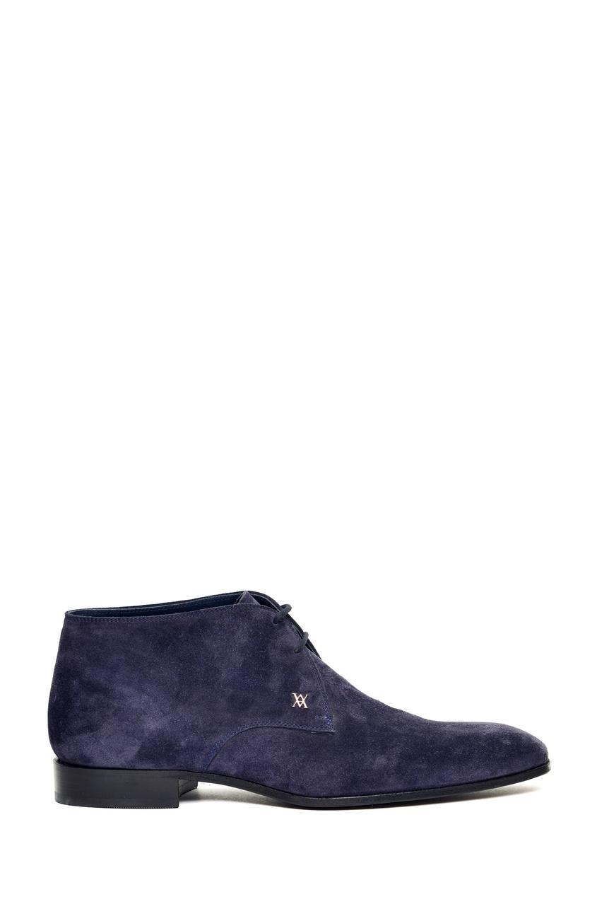 Синие замшевые ботинки от Artioli